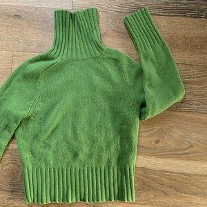 Green Turtleneck Sweater    Gap